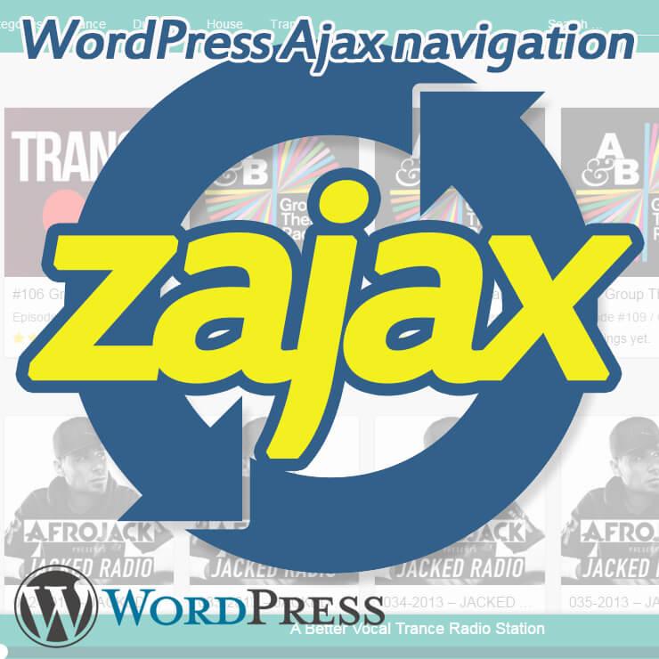 Ajax Navigation for Wordpress Zajax